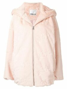 Ground Zero faux fur hooded coat - Pink