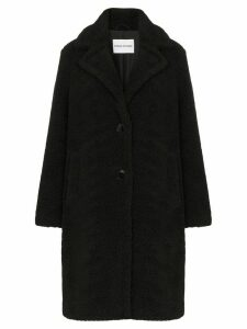 STAND STUDIO lisen teddy fleece coat - Black