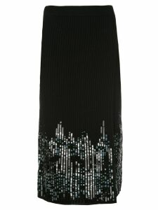 Jonathan Simkhai sequin-embellished ribbed skirt - Black