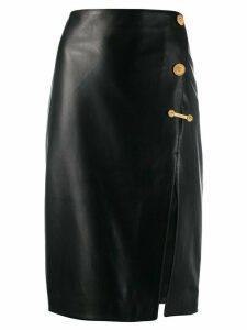 Versace Medusa details midi skirt - Black