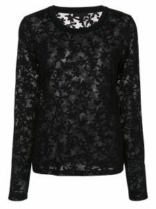 Rag & Bone floral pattern sheer top - Black