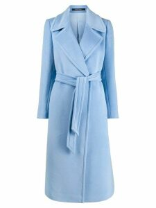 Tagliatore Molly belted coat - Blue