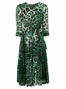 Samantha Sung leopard-print dress - Green