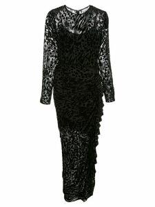 Veronica Beard animal pattern fitted dress - Black