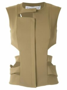 Gloria Coelho cut out vest - Green