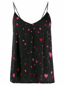 Racil leopard heart print vest - Black