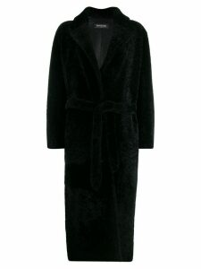 Simonetta Ravizza belted shearling coat - Black