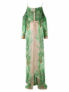 Amir Slama printed maxi silk dress - Green