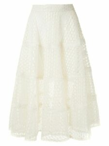 Olympiah Lamier lace midi skirt - White
