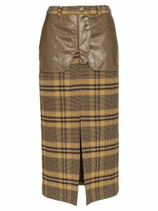 Rejina Pyo high-rise check midi pencil skirt - Brown