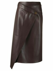 Áeron draped asymmetric skirt - Brown