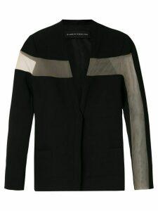 Gloria Coelho sheer panels blazer - Black
