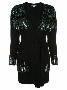 Jonathan Simkhai sequin-embellished ribbed cardi-coat - Black