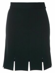 Gloria Coelho multiple slits short skirt - Blue