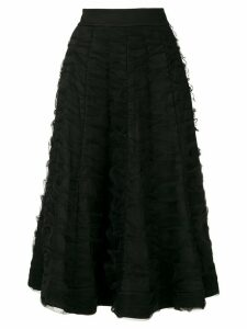 Gloria Coelho drape tulle flared skirt - Black