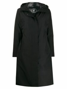 Save The Duck hooded long padded coat - Black