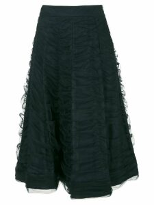 Gloria Coelho draped tulle midi skirt - Black