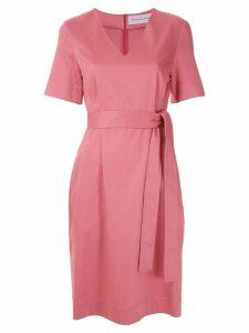 Gloria Coelho tie waist short dress - PINK