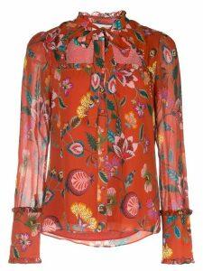 Alexis Elodie floral print shirt - Red
