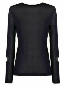 Gloria Coelho long sleeved knit blouse - Blue