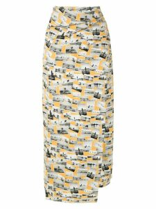 Gloria Coelho photografic print skirt - Multicolour