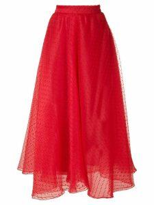 Gloria Coelho organza flared skirt