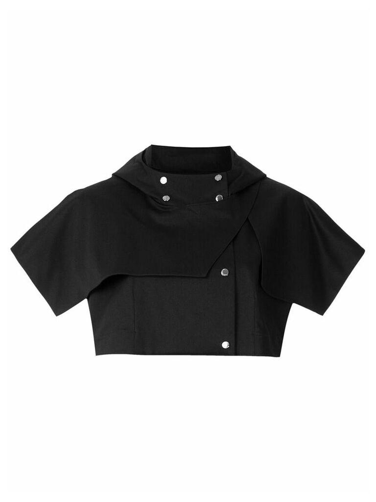 Gloria Coelho double breasted crop coat - Black