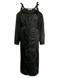 Ottolinger off-the-shoulder trench coat - Black