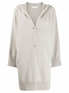 Fabiana Filippi hooded relaxed-fit cardi-coat - Neutrals