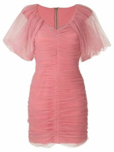 Gloria Coelho draped tulle dress - PINK