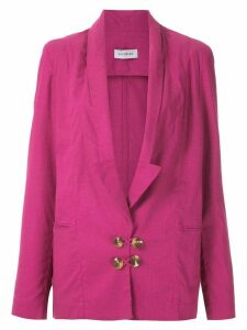 Olympiah Bryone plunge blazer - Pink