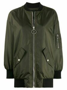 Ermanno Ermanno zipped bomber jacket - Green