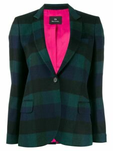 PS Paul Smith check print blazer - Green