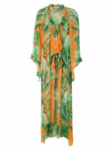 Amir Slama Floral silk dress - Green