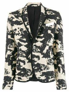 Neil Barrett woven camouflage blazer - Black