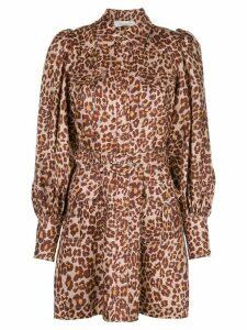 Zimmermann leopard shirt dress - Brown