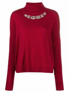 LIU JO rhinestone embellished jumper - Red