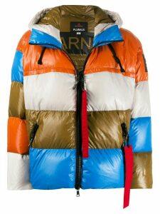 Peuterey colour block padded jacket - Orange