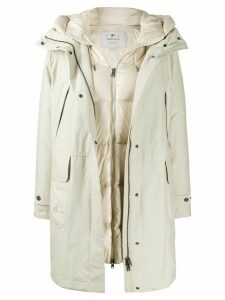 Woolrich layered padded coat - NEUTRALS