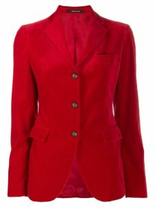 Tagliatore fitted single-breasted blazer - Red