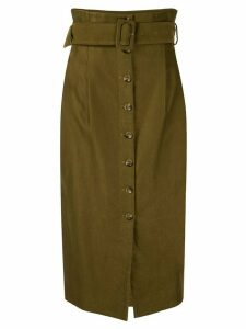Muller Of Yoshiokubo belted midi skirt - Green