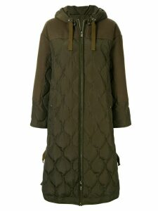 Muller Of Yoshiokubo hooded quilted jacket - Green