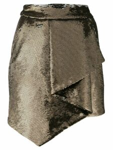 Alexandre Vauthier wrap detail skirt - Gold