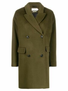 Closed oversized wool coat - Green