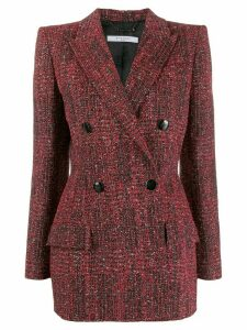 Givenchy double-breasted tweed jacket - Red