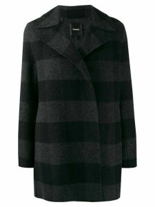 Theory checked double-faced coat - Grey
