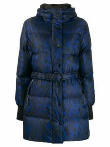 Kenzo abstract print padded coat - Blue
