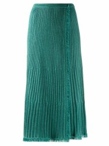 Diane von Furstenberg Brooklyn wrap midi skirt - Blue