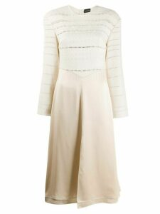 Magda Butrym Temuco fitted midi dress - Neutrals