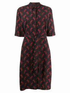 YMC paisley waist-tied dress - Blue